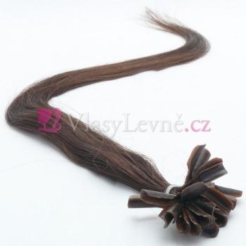 001B - Přírodně černé vlasy k prodloužení - Keratin , 50cm, 20 pramenů