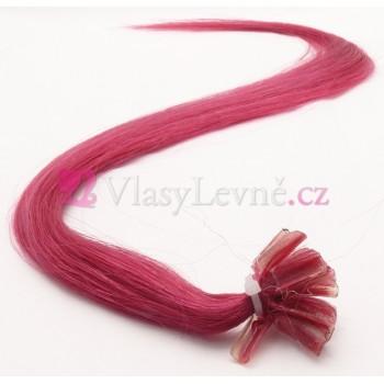 FOXIA - Fuxiové vlasy k prodloužení - Keratin, 50cm, 20 pramenů