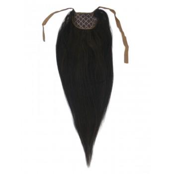 002 - Nejtmavší hnědý clip-in culík, 50 cm, REMY, 80g