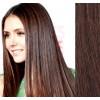 Clip in vlasy 43cm lidské - STŘEDNĚ HNĚDÉ