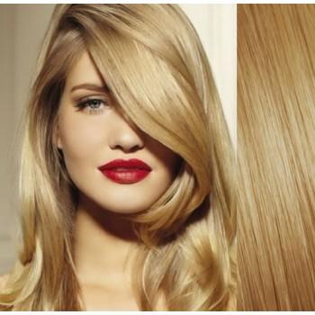 Clip in lidské vlasy 43cm 100g  - PŘÍRODNÍ BLOND