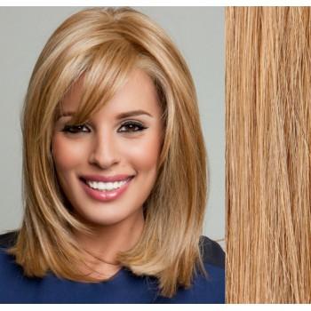 Clip in lidské vlasy 43cm 100g  - PŘÍRODNÍ/SVĚTLEJŠÍ BLOND