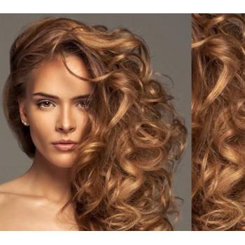 Clip in lidské vlasy 53cm  - SVĚTLE HNĚDÉ