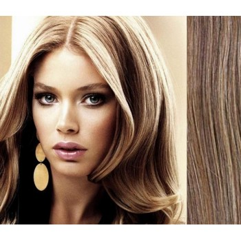 Clip in lidské vlasy 53cm  - SVĚTLÝ MELÍR