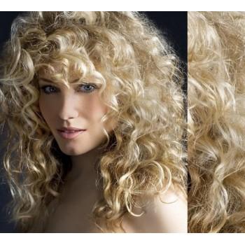 Clip in lidské vlasy 53cm  - PLATINA/SVĚTLE HNĚDÁ